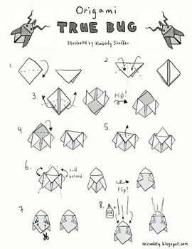 Origami Activity Page - True Bug / Cicada