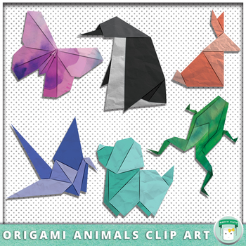 Origami Animals Clip Art By Mallow World Teachers Pay Teachers - Origamis-animales