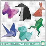 Origami Animals Clip Art