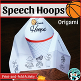 Origami Basketball Hoops for Speech Therapy
