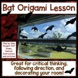 Origami Bat Halloween Critical Thinking Activity