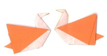 Origami Bird 1 and 2