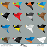 Origami Birds Digital Clip Art