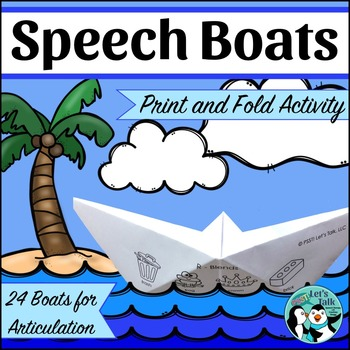 Origami Boats for Speech Therapy