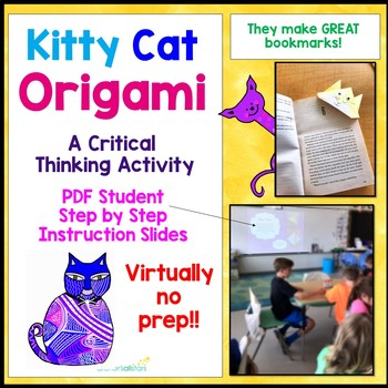 Origami Cat Following Directions Critical Thinking Activity