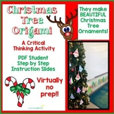 Origami Christmas Tree Critical Thinking Activity Hands On