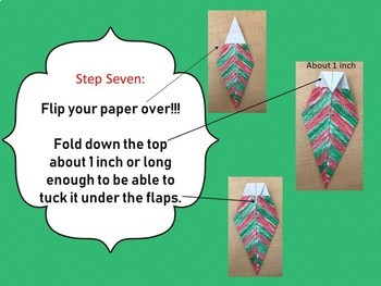 Origami Christmas Tree Critical Thinking Activity Hands On Follow Directions