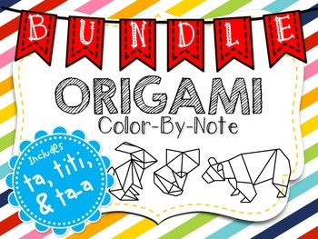 Origami Color-By-Note BUNDLE with Ta, Titi & Ta-a
