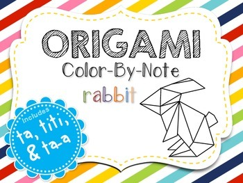 Origami Color-By-Note Rabbit with Ta, Titi & Ta-a