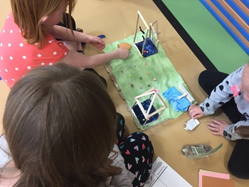 Origami Frog Obstacle Course Enrichment - Blended Learning Choice Board STEAM