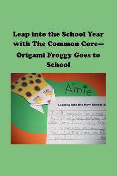 Origami Froggy Goes to School - 3D Art Nameplates and Comm