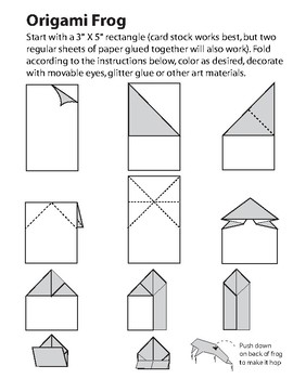 Origami Frog Step-By-Step Instructions Teaching Resource   Teach ...   350x270