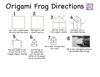 Origami Jumping Frog Directions