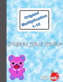 Origami Multiplication - Combined Skills Practice 1-10