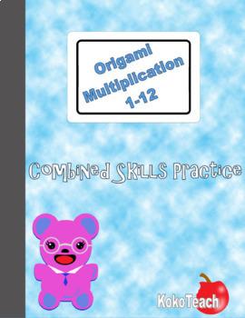 Origami Multiplication - Combined Skills Practice 1-12