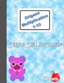 Origami Multiplication - Single Skills Practice 1-10