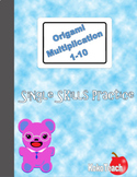 Origami Multiplication - Single Skills Practice 1-10