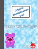 Origami Multiplication - Single Skills Practice 1-12