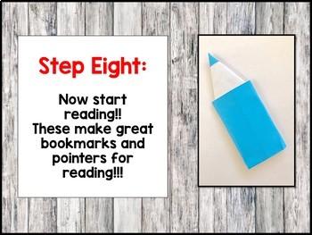Origami Reading Bookmark Craft Activity