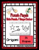 Origami - Swan - 26 Shapes - Hole Punch Cards / Bingo Daub