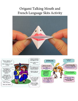 Origami Talking Mouth Puppet and French Skits