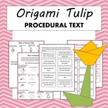 Origami Tulip Procedural Text Mini Lesson