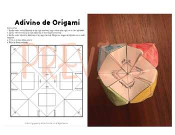 Origami Verb Conjugation Activity