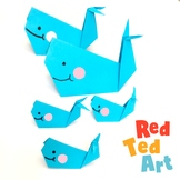 Origami Whale - Simple STEAM Activity - Valentine's Day Ca