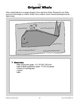 Origami Whale and Snail Trail