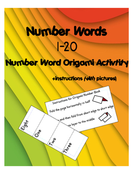 Origami Number Word Books 1-20 (with pictures+instructions