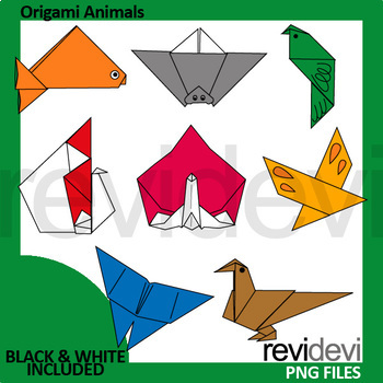 Origami animals clip art