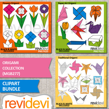 Origami clip art bundle