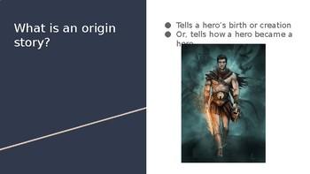 Origin Story Elements PowerPoint