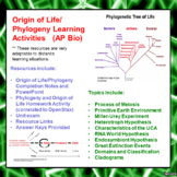 Origin of Life/Intro to Phylogeny Learning Package for AP/Advanced Biology