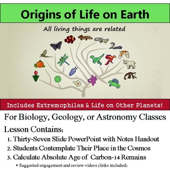 Origin of Life on Earth - Evidence for History of Life on Earth