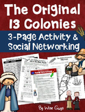 American Revolution 13 Colonies Questions and Social Network Activity