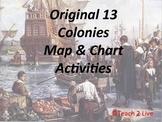 Original 13 Colonies Map Activity