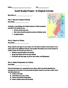 Original 13 Colonies Project
