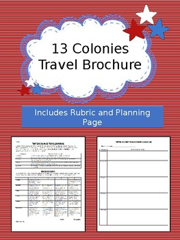 Original 13 Colonies Travel Brochure Project