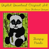 Original Art from Sara Hickman Designs - Hungry Panda