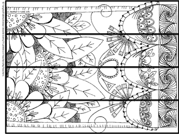 Original Artwork Coloring book bookmarks