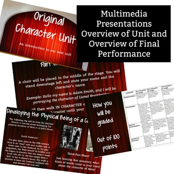Original Character Unit - 2 Weeks of Activities, Worksheets, and More!