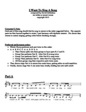 Original Choral Piece - I Want To Sing A Song