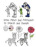 ABC clip art - 576 images total in b/w & color