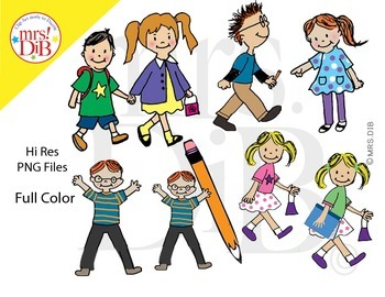 Original Clip Art - Back to SCHOOL KIDS