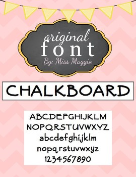 Original Font - CHALKBOARD
