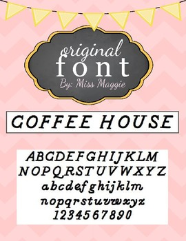 Original Font: COFFEE HOUSE