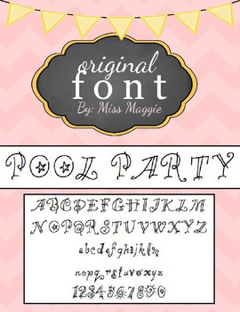 Original Font - POOL PARTY