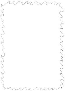 Original Hand Drawn Wave Border