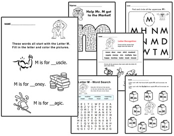 Original Letter People Worksheets Vol 4 - Letter Recognition & Games